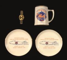 1973 New York Mets Old-Timers Day wristwatch and (3) 1970-71