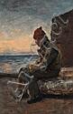 VAN DER VELDEN, Petrus (1837-1913)PeasantOil on, Petrus