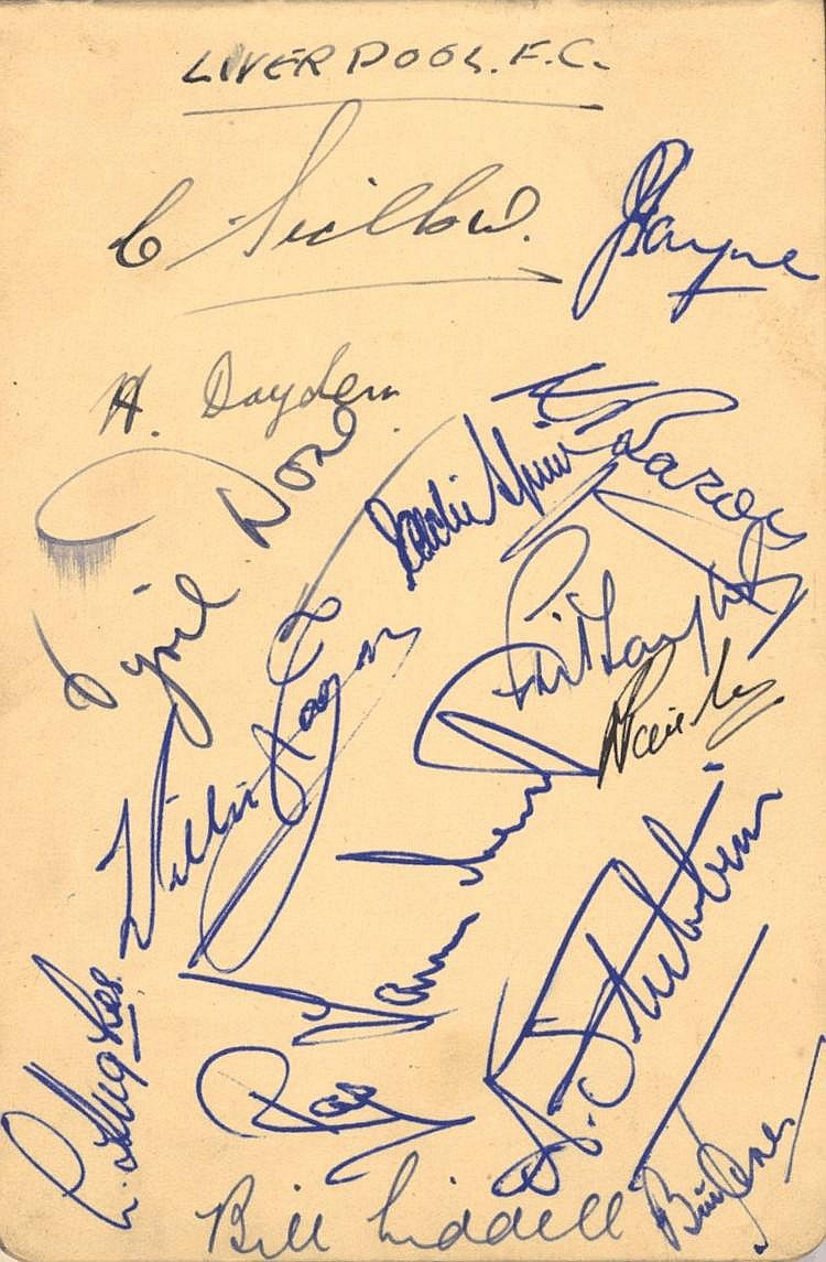 FOOTBALL: An autograph album containing various
