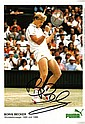 TENNIS: Selection of signed pieces, album pages,