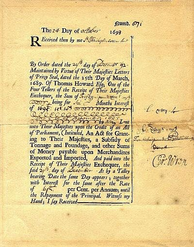AUTOGRAPHS: WREN CHRISTOPHER: (1632-1723) English