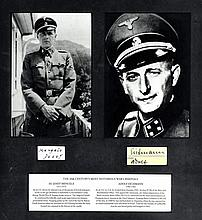 EICHMANN ADOLF (1906-1962) German Nazi