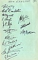 NEW ZEALAND: A page removed from an autograph