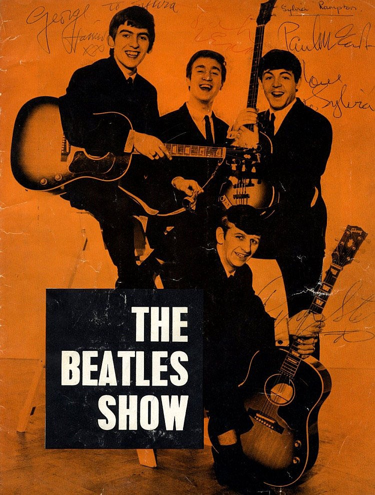 BEATLES THE: A vintage printed 4to programme for