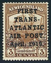 Newfoundland, airmail, 1919, 3¢ Hawker Flight