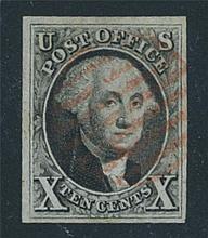 USA, 1847, 10¢ black