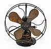 Metal and copper fan