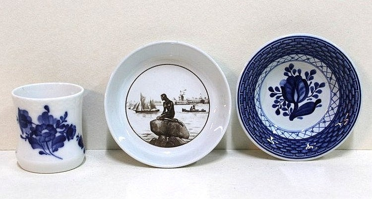 Lot of 3 porcelain items by Royal Copenhagen