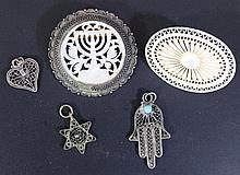 Lot of silver and MOP jewelry