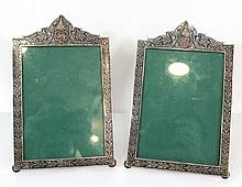 Pair of sterling silver picture frames