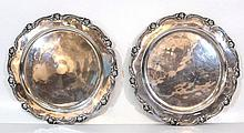 Lot of two Peruvian sterling silver trays