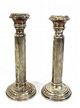 Pair of 925 silver candlesticks