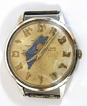 Watch with Hebrew letters