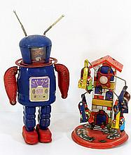 Lot of two tin toys
