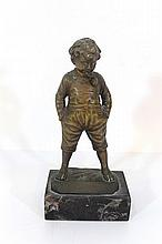 Bronze figurine of a boy