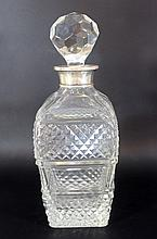 Crystal and Sterling silver bottle