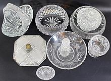 Large lot of crystal dishes