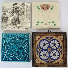 Lot of four Minton ceramic tiles