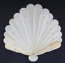 Antique ivory fan
