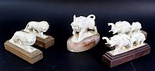 Lot of five ivory figurines