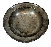 Jewish pewter bowl, Germany, 18th century