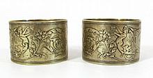 Pair of 19th century napkin rings by WMF