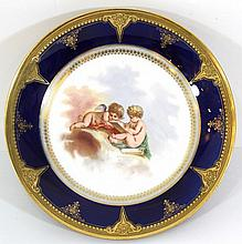 Porcelain tray (on leg) by Sèvres
