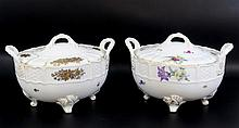 Lot of two porcelain boxes by Rosenthal