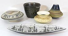 Lot of five ceramic items by Harsa (Israel)