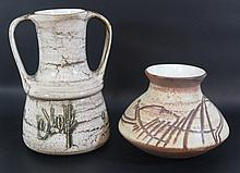 Lot of two ceramic vases by Harsa (Israel)