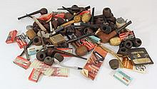 Lot of vintage wooden pipes