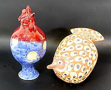 Lot of two ceramic figurines by Eithan Gross