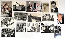 Lot of photographs of Israeli politicians