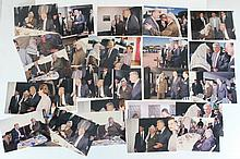 Lot of photographs of a meeting between Yasser Arafat and Ezer Weizmann