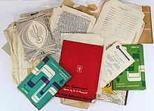 Lot of documents related to the Israeli philharmonic orchestra