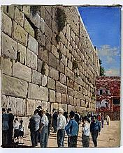Zulkis, men praying at the Wailing Wall