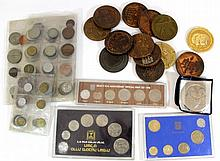 Lot of coins and medals