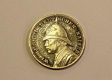 Coin commemorating the visit of the Kaiser Wilhelm II to Palestine
