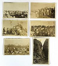 Lot of six photographs from a tour in Eretz Israel from 1930