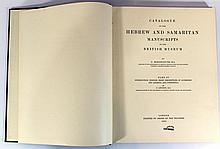 Catalog of the Hebrew and Samaritan Manuscripts in the British Museum