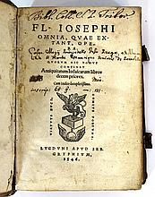 Josephus - Jewish Antiquities, the first 10 books, 1546
