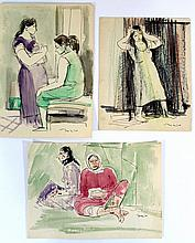 Eliahu Sigard (Israeli, 1901-1975), lot of three drawings