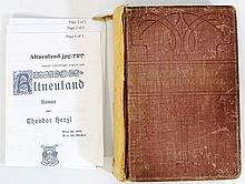 Altneuland, by Herzl, First edition