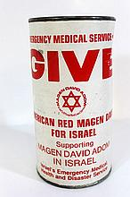 American charity box for Magen David Adom