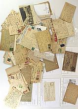 Lot of letters and postcards by Jewish writers