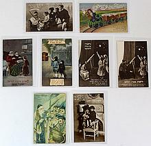 Lot of Early 20th century Jewish New Year postcards