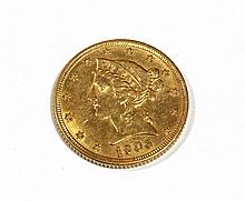 1906 $5 Liberty Head Gold coin