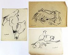 Joseph Constant (Israeli, 1892-1969), lot of three drawings