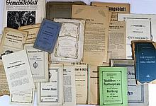 Lot of German documents relating to Judaism and documents from the Jewish community in Germany