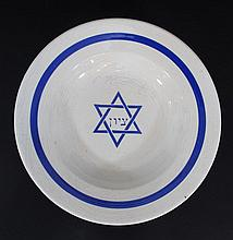 Ceramic plate with the emblem of the Zionist movement